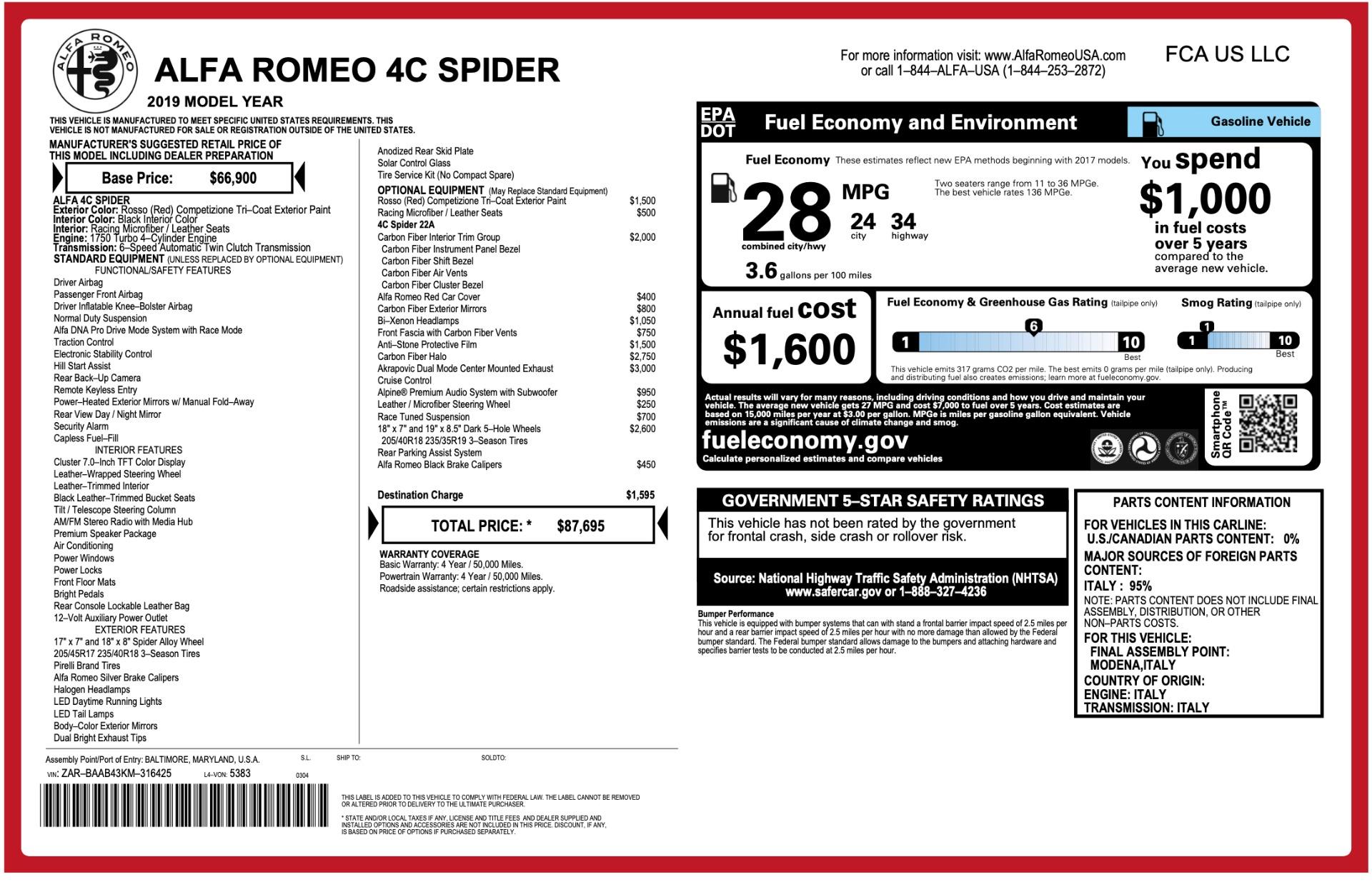 Used-2019-Alfa-Romeo-4C-Spider